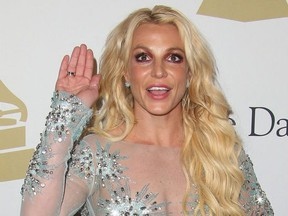 Britney Spears attends the Clive Davis pre-Grammy Gala & Salute to Industry Icons honoring Debra l. Lee at the Beverly Hilton Hotel.