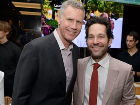 Will Ferrell and Paul Rudd attend the Hollywood Foreign Press Association and The Hollywood Reporter Celebration of the 2020 Golden Globe Awards season and unveiling of the Golden Globe ambassadors at Catch on Nov. 14, 2019 in West Hollywood, Calif. (Matt Winkelmeyer/Getty Images for The Hollywood Reporter)