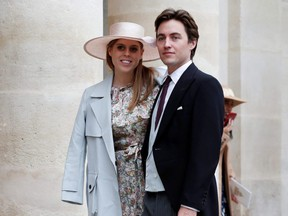 Princess Beatrice and property tycoon Edoardo Mapelli Mozzi are pictured in Paris, France, on Oct. 19, 2019.