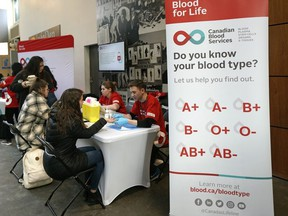 Canadian Blood Services hosted a blood typing event at the University of Alberta on Tuesday February 4, 2020 to encourage students to become blood donors.