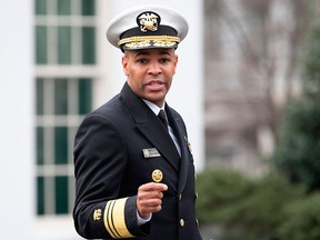 U.S. Surgeon General Jerome Adams speaks outside the White House in Washington, D.C., on March 20, 2020.