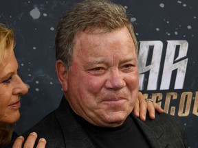 Elizabeth Shatner and William Shatner arrive for the premiere of CBS's 'Star Trek: Discovery' at The Cinerama Dome in Hollywood, California on September 19, 2017.