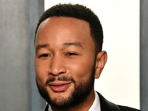 John Legend attends the 2020 Vanity Fair Oscar Party hosted by Radhika Jones at Wallis Annenberg Center for the Performing Arts on Feb. 9, 2020, in Beverly Hills, Calif.