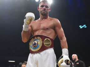 Billy Joe Saunders defeats Willie Munroe Jr for the WBO World Middleweight Title fight at Copper Box Arena on Sept.16, 2017, in London, England.