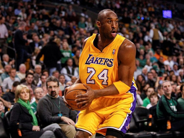 FILE PHOTO: Feb 09, 2012; Boston, MA, USA; Los Angeles Lakers shooting guard Kobe Bryant (24) on the court against the Boston Celtics at the TD Garden. Mandatory Credit: David Butler II-USA TODAY Sports/File Photo ORG XMIT: FW1