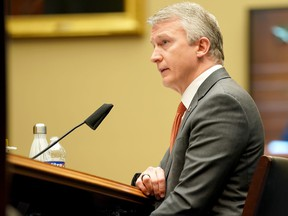 Dr. Richard Bright, former director of the Biomedical Advanced Research and Development Authority, testifies during a House Energy and Commerce Subcommittee on Health hearing to discuss protecting scientific integrity in response to the coronavirus outbreak on Thursday, May 14, 2020. in Washington, D.C.