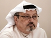 """(FILES) In this file photo taken on December 15, 2014 Saudi journalist Jamal Khashoggi attends a press conference in the Bahraini capital Manama. - The sons of murdered Saudi journalist Jamal Khashoggi said Friday that they """"forgive"""" the killers of their father. """"We the sons of martyr Jamal Khashoggi announce we forgive and pardon those who killed our father,"""" the Washington Post columnist's son Salah Khashoggi said on Twitter. (Photo by MOHAMMED AL-SHAIKH / AFP) (Photo by MOHAMMED AL-SHAIKH/AFP via Getty Images)"""