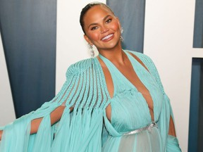 Chrissy Teigen attends the 2020 Vanity Fair Oscar Party following the Oscars at The Wallis Annenberg Center for the Performing Arts in Beverly Hills on Feb. 9, 2020.