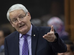 Minister of Transport Marc Garneau responds to a question during Question Period in the House of Commons Tuesday, Feb. 25, 2020, in Ottawa.