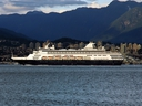 A cruise ship is seen leaving Vancouver in this file photo.
