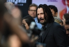 US/Canadian actor Keanu Reeves arrives for the Los Angeles special screening of Lionsgate's