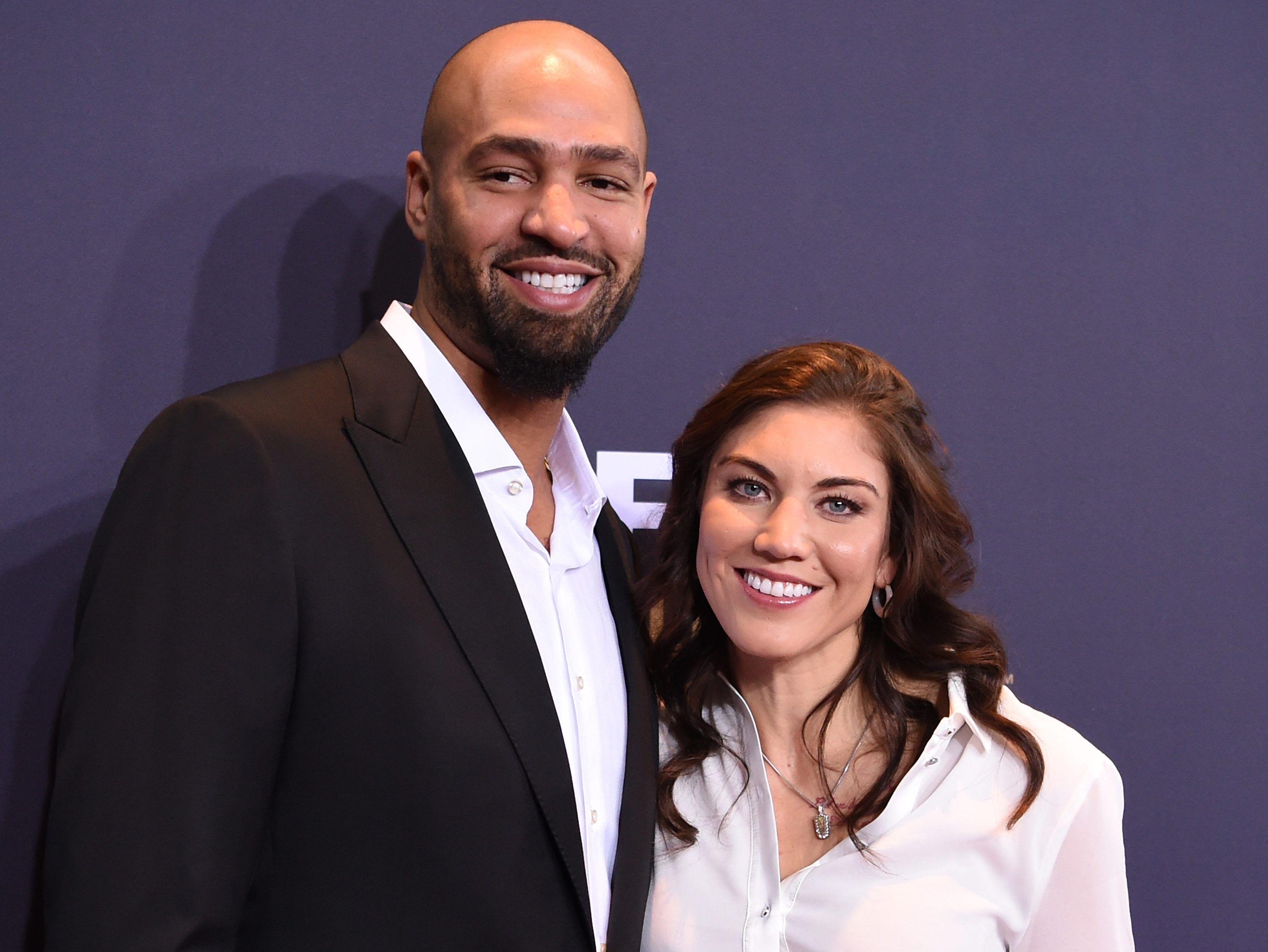 Hope Solo and Jerramy Stevens attend the FIFA Ballon d'Or Gala 2015 at the Kongresshaus on Jan. 11, 2016 in Zurich, Switzerland.