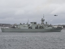 The Halifax-class frigate HMCS Fredericton is back in action less than two weeks after its Cyclone helicopter crashed off the coast of Greece, killing six Canadian Armed Forces members.
