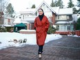 Huawei Technologies chief financial officer Meng Wanzhou leaves her house on her way to a court appearance on Jan. 17, 2020, in Vancouver.
