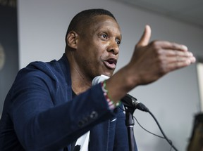 Raptors President Masai Ujiri at year end press conference in Toronto, Ont. on Tuesday June 25, 2019.