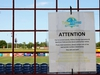 CLEARWATER, FLORIDA - MAY 20: A sign announces that Phillies Florida Operations and Spectrum Field, spring training home of the Philadelphia Phillies, have been shut down on May 20, 2020 in Clearwater, Florida. The Major League Baseball season remains postponed due to the COVID-19 pandemic. (Photo by Mike Ehrmann/Getty Images)