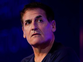 Mark Cuban, entrepreneur and owner of the Dallas Mavericks, speaks at the WSJTECH live conference in Laguna Beach, California, U.S. October 21, 2019.