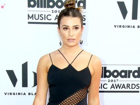 Lea Michele attends the 2017 Billboard Music Awards at T-Mobile Arena in Las Vegas, May 21, 2017.