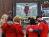 CP-Web.  Mourners, asked to wear red on Friday, are seen near a mural dedicated to slain RCMP Const. Heidi Stevenson, during a province-wide, two-minutes of silence for the 22 victims of last weekend's shooting rampage, in front of the RCMP detachment in Cole Harbour, N.S., Friday, April 24, 2020. THE CANADIAN PRESS/Tim Krochak ORG XMIT: HALK101