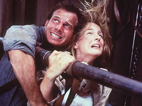"""Bill Paxton and Helen Hunt star in """"Twister."""""""