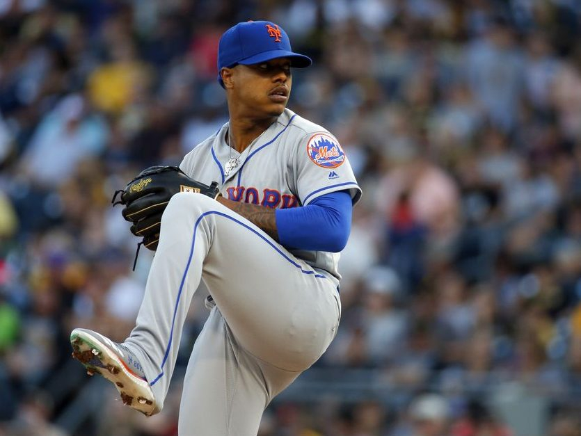 Marcus Stroman of the New York Mets pitches in the first inning against the Pittsburgh Pirates at PNC Park on August 3, 2019 in Pittsburgh, Pennsylvania.