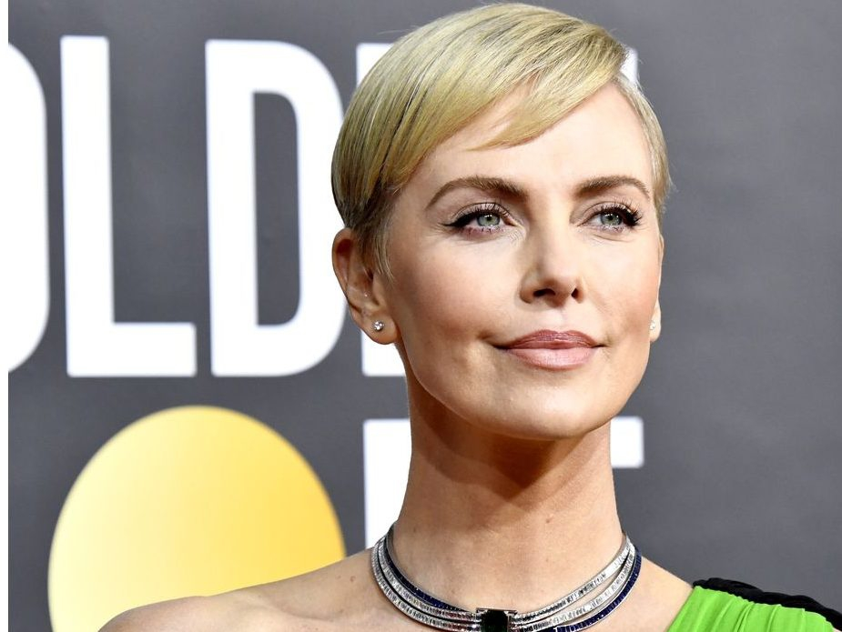 Charlize Theron attends the 77th Annual Golden Globe Awards at The Beverly Hilton Hotel on January 05, 2020 in Beverly Hills, California.