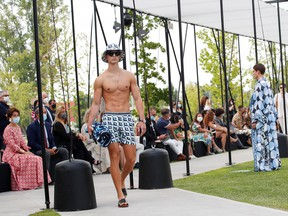 Models present creations from the Dolce & Gabbana Spring/Summer 2021 men's collection in a live-streamed show at the university campus of the Humanitas Research Foundation during Milan Digital Fashion Week in Rozzano, south of Milan, Italy, July 15, 2020.