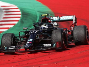 Valtteri Bottas of Finland ddrives during the Formula One Grand Prix of Austria at Red Bull Ring on July 5, 2020 in Spielberg, Austria.