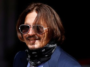 Actor Johnny Depp arrives at the High Court in London, Britain July 17, 2020.
