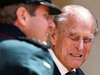 Britain's Prince Philip speaks to Assistant Colonel Commandant, Major General Tom Copinger-Symes during the transfer of the Colonel-in-Chief of the Rifles at Windsor Castle in Britain July 22, 2020. The Duke of Edinburgh will step down from his role as Colonel-in-Chief for the Rifles after 67 years of service. Adrian Dennis/Pool via REUTERS ORG XMIT: GDN-ROY