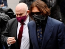 Actor Johnny Depp arrives at the High Court in London July 9, 2020.