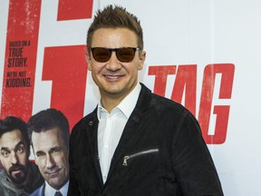 Actor Jeremy Renner at the red carpet for the movie Tag at the TIFF Bell Lightbox in Toronto on Monday June 11, 2018.