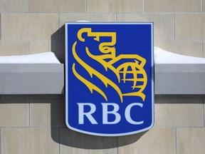 The Royal Bank of Canada (RBC) logo is seen outside of a branch in Ottawa, Ontario, Canada, February 14, 2019.