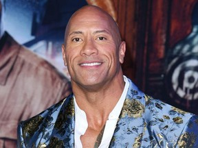 "Dwayne Johnson attends the premiere of Sony Pictures' ""Jumanji: The Next Level"" on Dec. 9, 2019 in Hollywood, Calif."