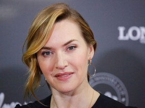 In this file photo taken on April 27, 2018 Kate Winslet attends the Longines Masters of New York at Nassau Coliseum in Uniondale New York