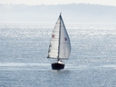 A sail boat is seen sailing off the shore of Vancouver Island, B.C. Friday, March 29, 2013.