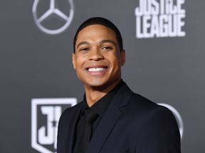 US actor Ray Fisher poses as he arrives for the world premiere of Warner Bros. Pictures film 'Justice League' at The Dolby Theatre in Hollywood, California on November 13, 2017.