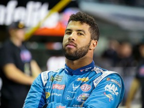 NASCAR driver Bubba Wallace during qualifying for the Ford EcoBoost 400 at Homestead-Miami Speedway.