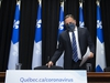 Quebec Premier Francois Legault arrives at a news conference on the COVID-19 pandemic at the National Assembly in Quebec City, Tuesday, Sept. 15, 2020. THE CANADIAN PRESS/Jacques Boissinot