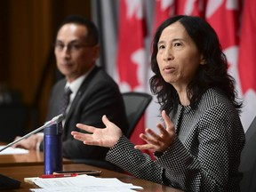 Chief Public Health Officer Dr. Theresa Tam and Dr. Howard Njoo, Deputy Chief Public Health Officer, hold a press conference on Parliament Hill in Ottawa on Tuesday, Sept. 1, 2020.