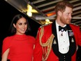 Britain's Prince Harry and his wife Meghan, arrive to attend the Mountbatten Festival of Music at the Royal Albert Hall in London, Britain March 7, 2020.