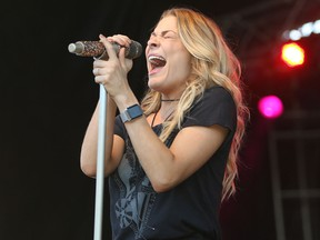 American country artist Leann Rimes sings at the Bud Country Fever music festival on Friday June 26, 2015 at Evergreen Park in Grande Prairie, Alta.