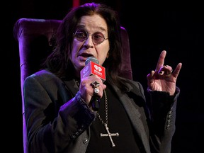 Ozzy Osbourne speaks onstage at iHeartRadio ICONS with Ozzy Osbourne: In Celebration of Ordinary Man at iHeartRadio Theater on February 24, 2020 in Burbank, California.