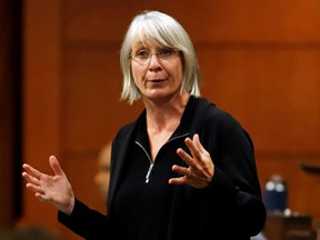 Minister of Health Patty Hajdu speaks during Question Period in Parliament in Ottawa, Sept. 29, 2020.