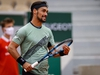 Italy's Fabio Fognini reacts as he plays against Kazakhstan's Mikhail Kukushkin during their men's singles first round tennis match at the Simonne Mathieu court on Day 2 of The Roland Garros 2020 French Open tennis tournament in Paris on September 28, 2020. (Photo by Thomas SAMSON / AFP) (Photo by THOMAS SAMSON/AFP via Getty Images)