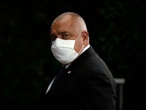 Bulgaria's Prime Minister Boyko Borissov leaves a meeting at the EU summit, amid the coronavirus disease (COVID-19) outbreak, in Brussels, Belgium early July 21, 2020.