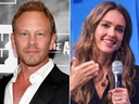 Ian Ziering and Jessica Alba
