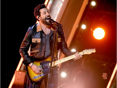 """Matthew Ramsey of musical group Old Dominion performs onstage at Nashville's Music City Center for """"The 54th Annual CMA Awards"""" broadcast on Wednesday, Nov. 11, 2020 in Nashville, Tennessee."""