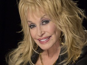 """Dolly Parton is photographed in Toronto at the Four Seasons Hotel for a press conference to promote """"Dolly Pure  Simple"""" on June 13, 2016."""