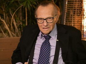 Larry King poses for a portrait at Crescent Hotel on November 25, 2019 in Beverly Hills.
